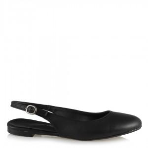Babet Ayakkabı Siyah Arkası Açık