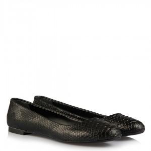Babet Ayakkabı Siyah Crocodile