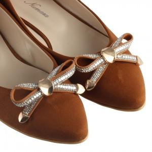 Babet Ayakkabı Taba Süet Fiyonk Taş
