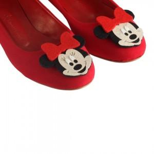 Babet Kırmızı Mickey Tokalı