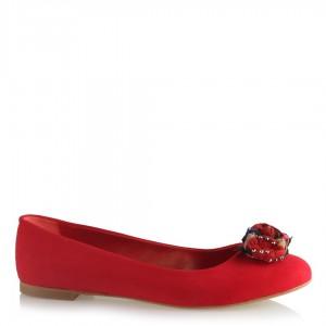 Babet Kırmızı Süet Renkli Çiçek