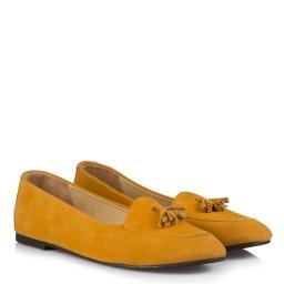 Babet Sarı Süet Püsküllü