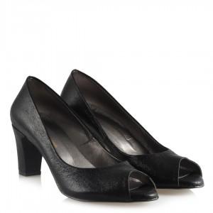 Bayan Ayakkabı Siyah Yaldızlı