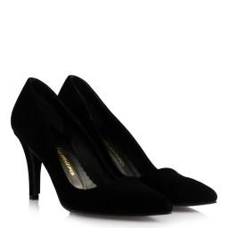 Bayan Siyah Süet Stiletto