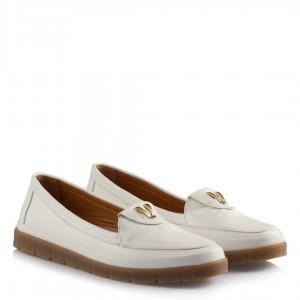 Beyaz Hakiki Deri Ayakkabı