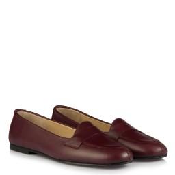 Bordo Hakiki Deri Babet Ayakkabı