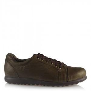 Haki Rengi Deri Ayakkabı