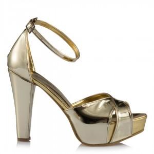 Dore Ayna Platform Topuklu Ayakkabı