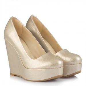 Dore Yaldızlı Dolgu Topuk Ayakkabı