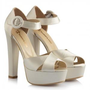 Düğün Ayakkabısı Sedef Saten Model