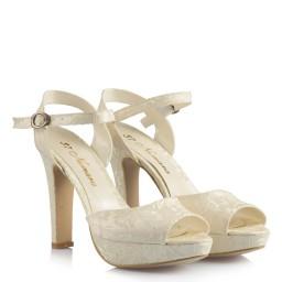 Gelin Ayakkabıları Dantel Platformlu