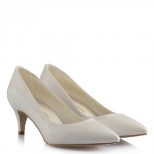 Gelin Ayakkabısı Az Topuklu Beyaz Stiletto