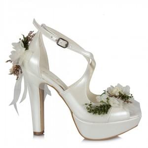 Gelin Ayakkabısı Çiçek Kibar Tasarımlar