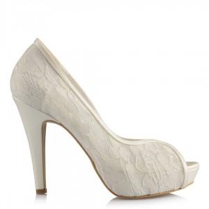 Gelin Ayakkabısı Dantel Model Platform