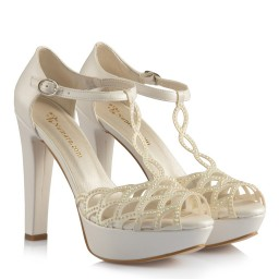 Белая Свадебная Обувь С Камнями