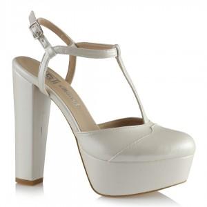 Gelin Ayakkabısı Platform Kemer