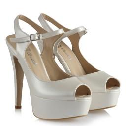 Свадебная Обувь На Платформе С Ремешком