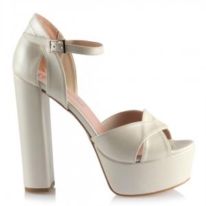 Gelin Ayakkabısı Platform Topuklu