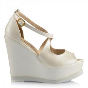 Gelin Ayakkabısı Rahat Dolgu Topuk Modeli