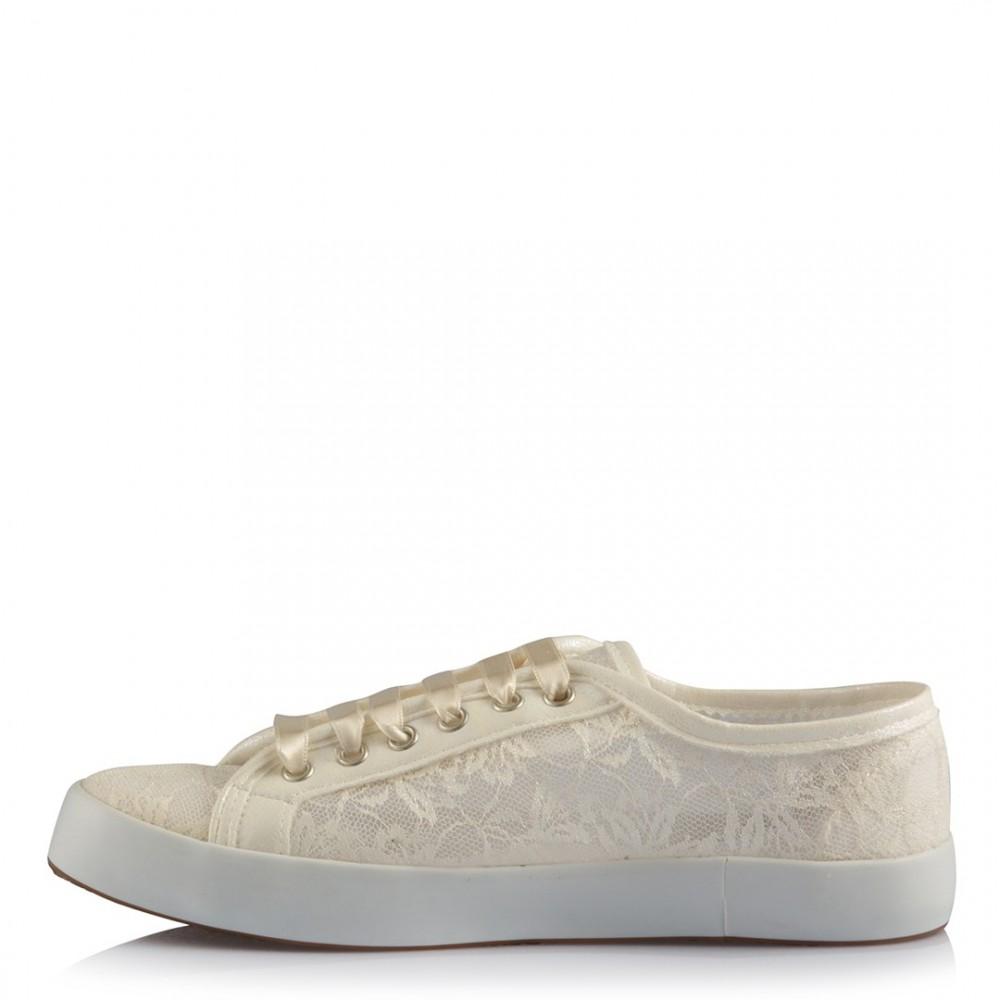116c28b934 Gelin Ayakkabısı Vans Kırık Beyaz Dantel