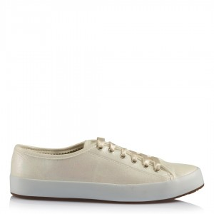 Gelin Ayakkabısı Vans Kırık Beyaz Yaldızlı