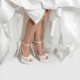 Свадебная Обувь На Высоком Каблуке С Лентами