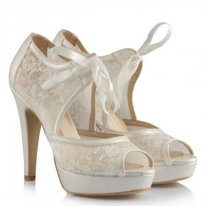 Gelinlik Ayakkabı Dantelli Kurdele Model