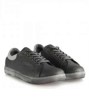 Gri Hakiki Deri Rahat Taban Ayakkabı