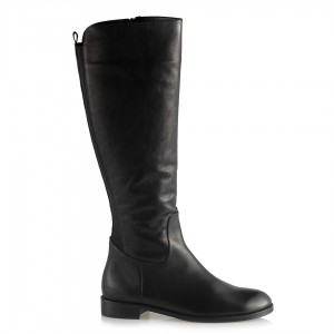 Hakiki Deri Bayan Çizme Siyah