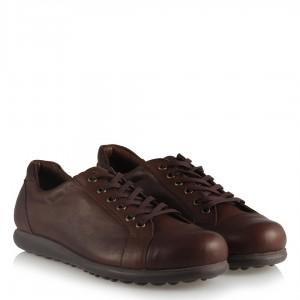Hakiki Deri Kahverengi Rahat Taban Ayakkabı