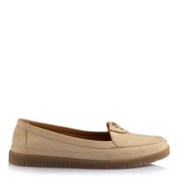 Hakiki Deri Rahat  Ayakkabı Bej