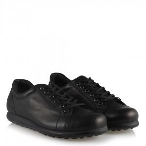 Hakiki Deri Siyah  Rahat Taban  Ayakkabı