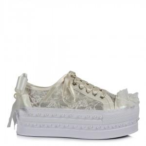 Nikah Ayakkabısı Dantel Spor Model Tasarım