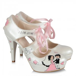 Nikah Ayakkabısı Gelin Kız Tasarımı