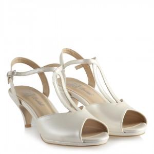 Nikah Ayakkabısı Kemerli Az Topuklu