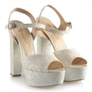 Nikah Ayakkabısı Platform Dantel