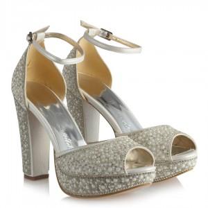 Nikah Ayakkabısı Platform İnci Taşlı