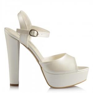 Nikah Ayakkabısı Sedef Yazlık Model Kalın Topuk