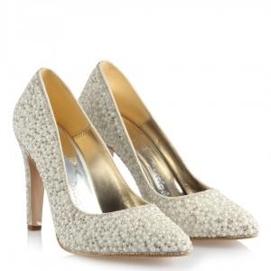Nikah Ayakkabısı Stiletto İnci Taş