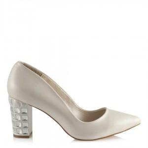 Nikah Ayakkabısı Tasarım Taşlı Topuklu Stiletto