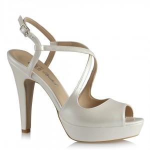 Nikah Ayakkabısı Topuklu Çapraz Kemerli