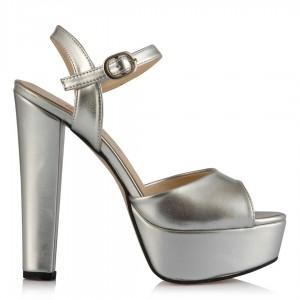 Platform Ayakkabı Mat Lame