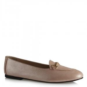 Pudra Parlak Deri Babet Ayakkabı Modeli
