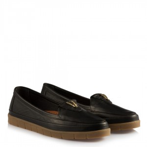 Rahat  Ayakkabı Siyah Hakiki Deri