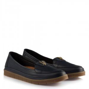Rahat Ayakkabılar Lacivert Hakiki Deri