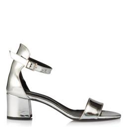 Sandalet Az Topuklu Lame Ayna Tek Bantlı