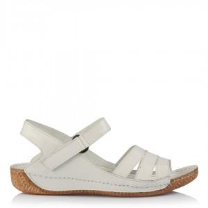Sandalet Büyük Numara Beyaz Hakiki Deri