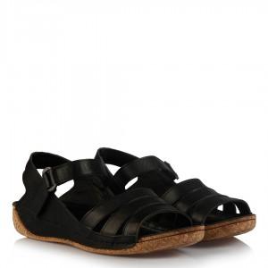 Sandalet Büyük Numara Siyah Hakiki Deri