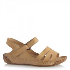 Sandalet Hakiki Deri Camel