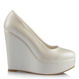 Sedef Deri 19 Pont Dolgu Topuk Gelinlik Ayakkabısı